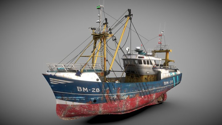 Trawler Sea Lady 3D Model