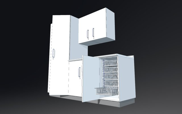 Full Height HTM71 3D Model