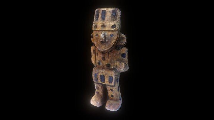Escultura de madera Chimú 3D Model