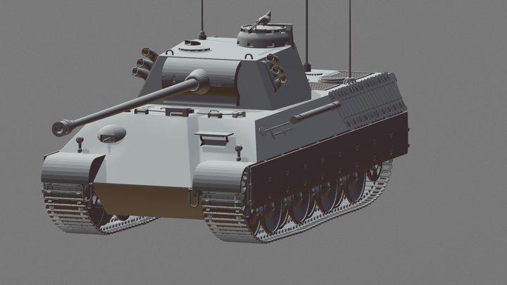"""Panzerkampfwagen V """"Panther"""" 3D Model"""