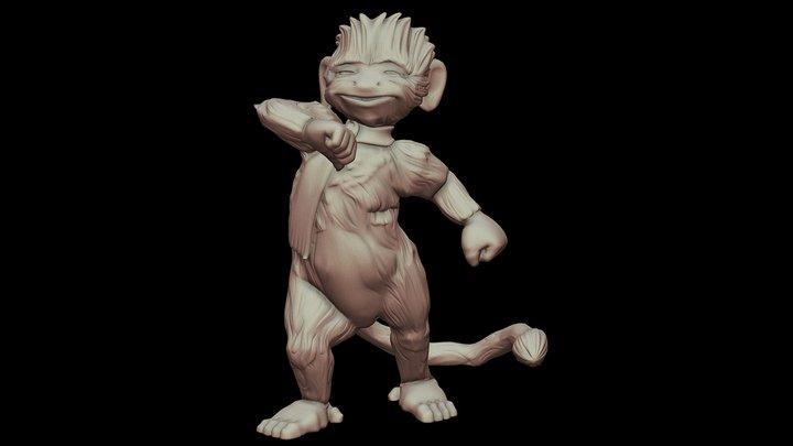 Reece the monkey 3D Model