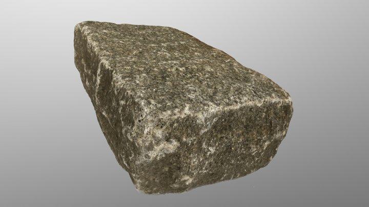 Reclaimed Granite Paver 3D Model
