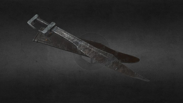 Falcata sword 3D Model