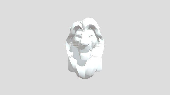 Mufasa Bust Origami 3D Model