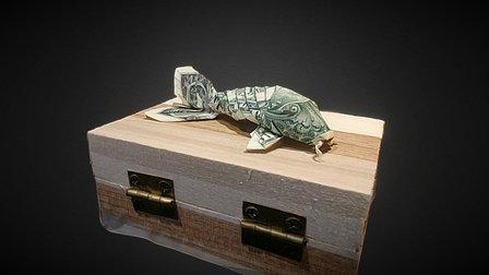 Dollar Bill Origami - Koi 3D Model