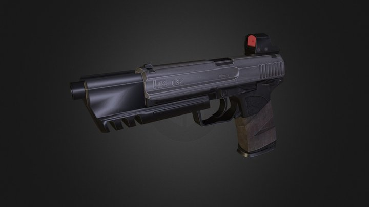 H&K USP Match 3D Model