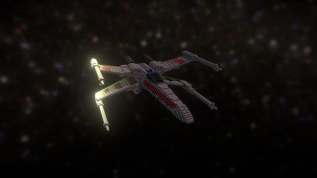XWing Voxels 3D Model