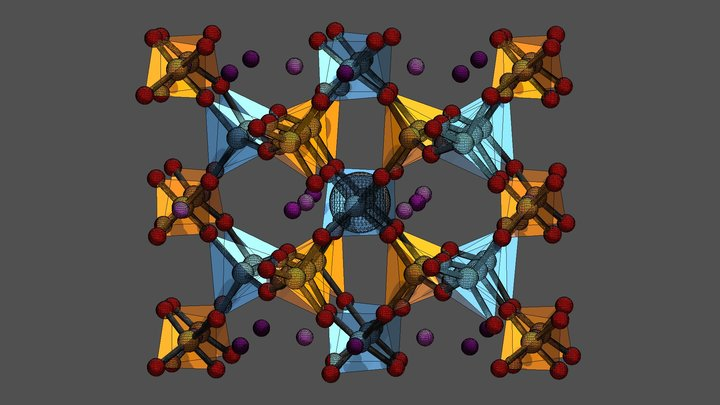 Beta-Eucryptite 3D Model