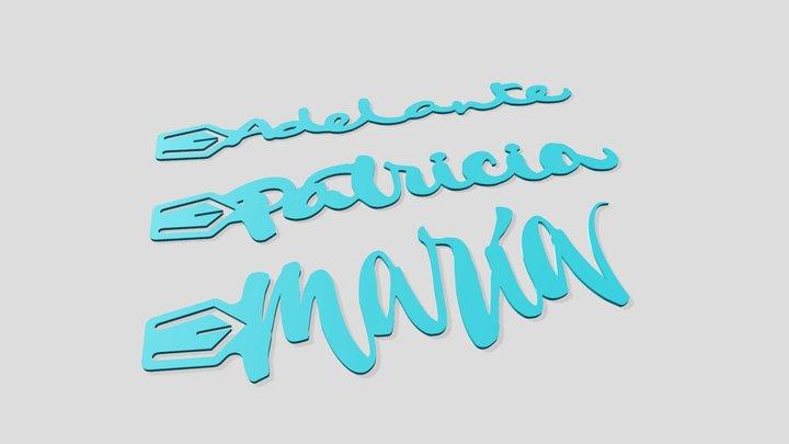 Marcapáginas María Patricia Adelante 3D Model