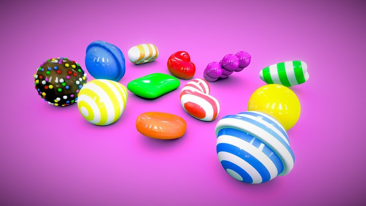 DAY10: CANDY 3D Model