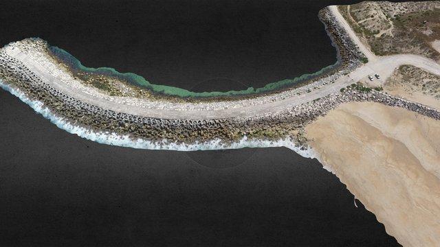 Quebra-Mar Nazaré-Sul (X3) 3D Model