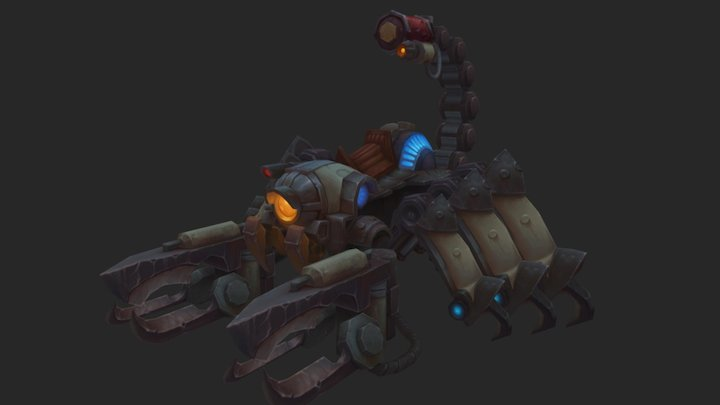 Scorpion Machine for Allods 3D Model
