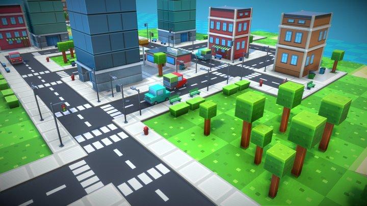 Pixel city 3D Model