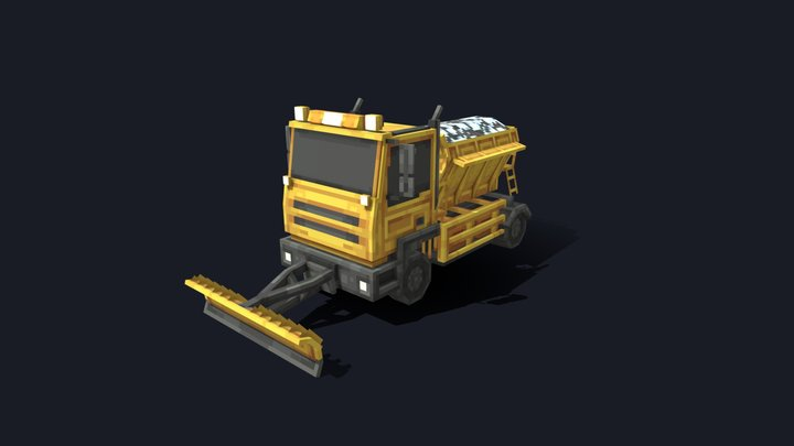 Minecraft Snowplough 3D Model