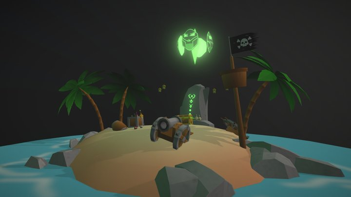 Plunder Island 3D Model