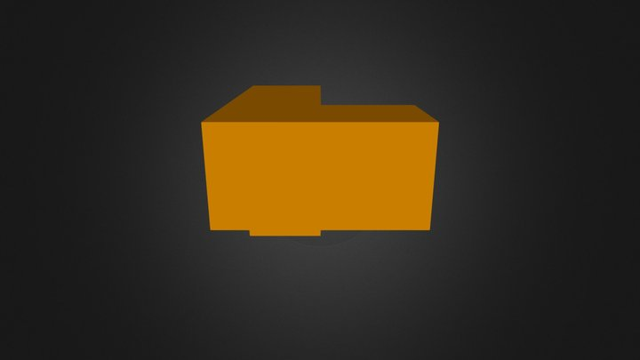Orange Cube 3D Model