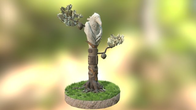Totem Crow from HuntingGroundsOfTheGreatSpirit 3D Model