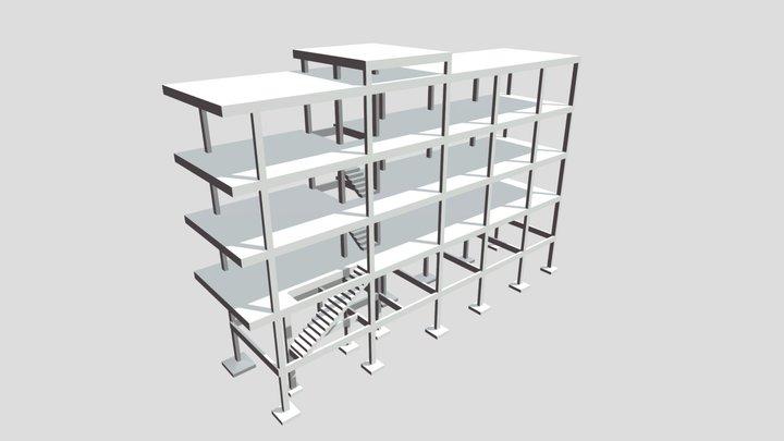 Projeto Estrutural - Edificação SE 3D Model
