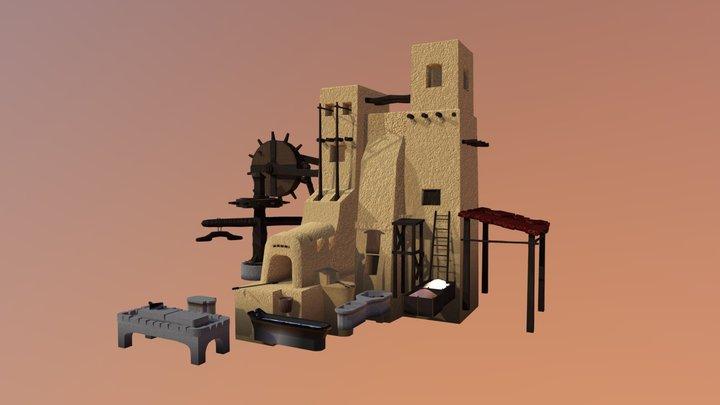 Desert Kiln 3D Model