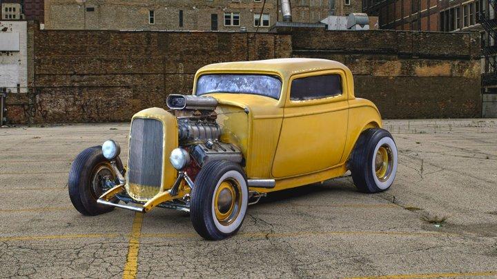 1933 Ford Hotrod 3D Model