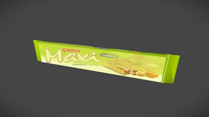 Wafer Choco Maxi 3D 3D Model