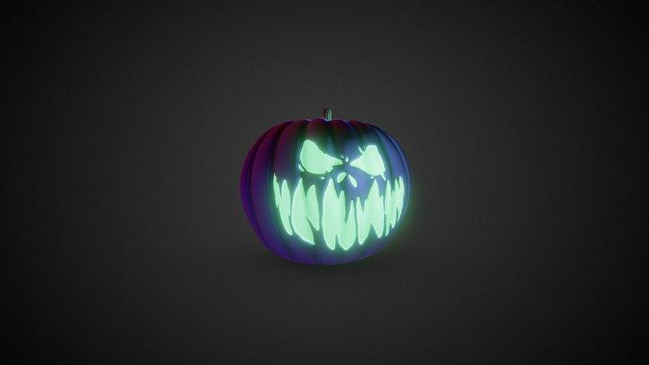 Halloween Evil Pumpkin 3D Model