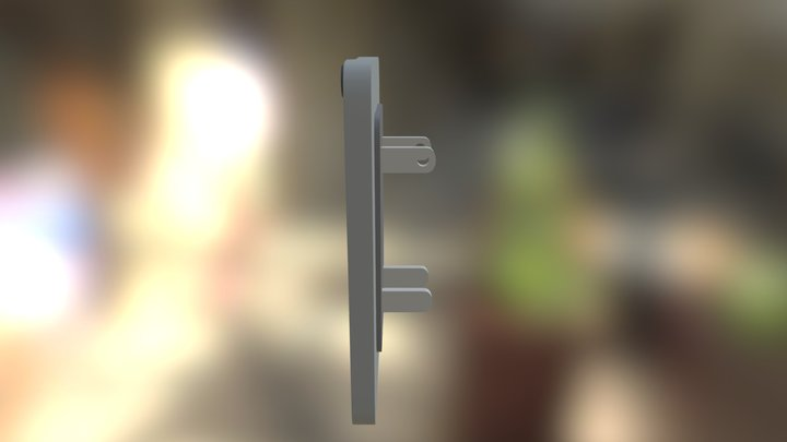 outlet speaker and glow 3D Model