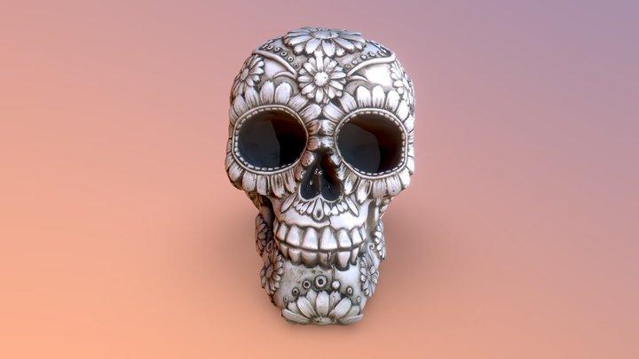 Floral Skull 3D Model