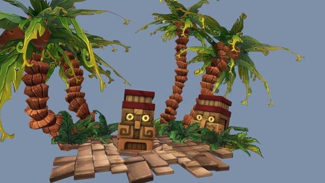 Jungle Diorama 3D Model