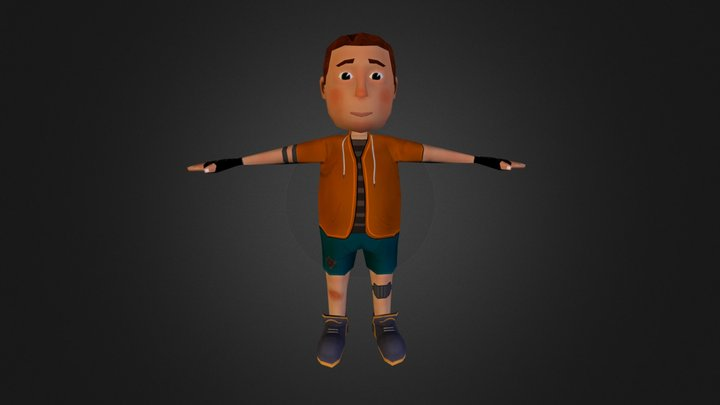 Andy (low poly) 3D Model