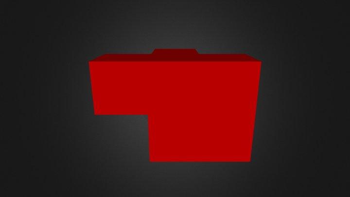 Puzzle Cube Red Part 3D Model