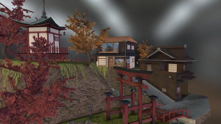 Cityscene Sketchfab 3D Model