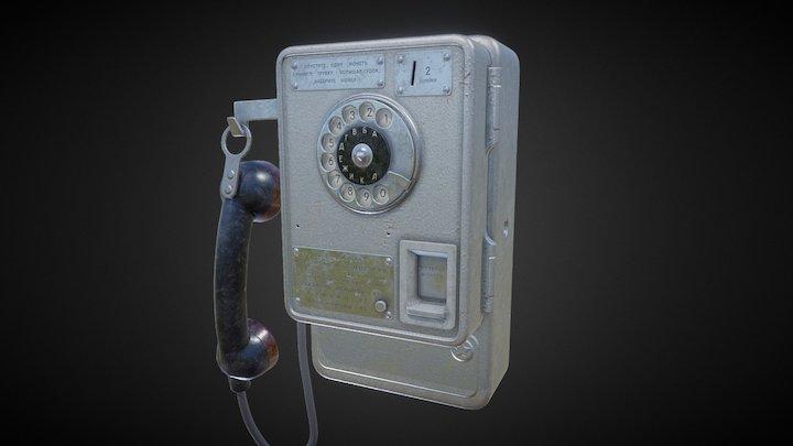 Payphone ATM 47 USSR 3D Model