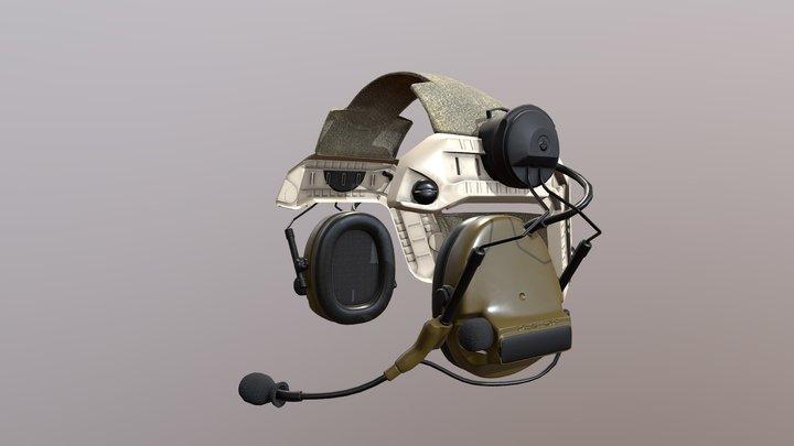 Headset Military Peltor 3D Model
