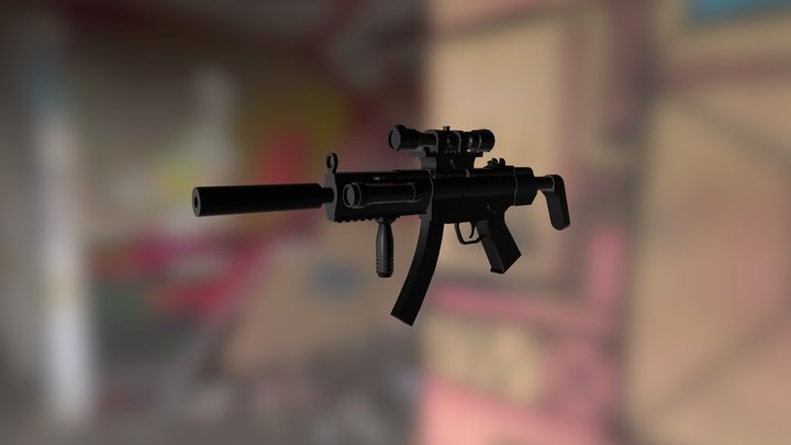 Mp5 Game- Ready 3D Model