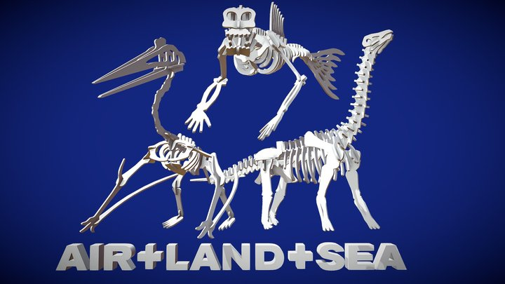 Air Land and Sea 3D Model