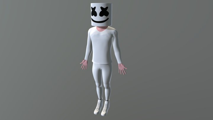 Marshmello 3D Model