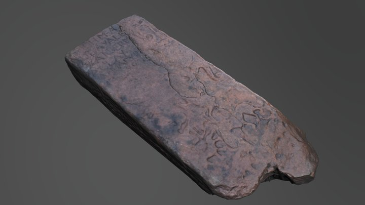 Dingwall Pictish stone 3D Model