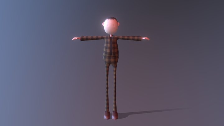 Stylish human doll 3D Model