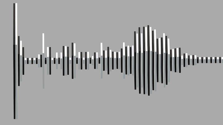audio wave animation 3D Model