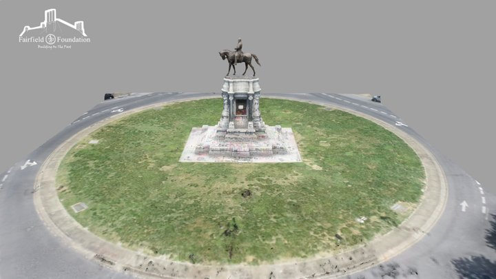 Robert E. Lee Monument - Graffitied 3D Model