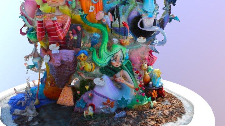 Hoguera Infantil Alicante 3D Model