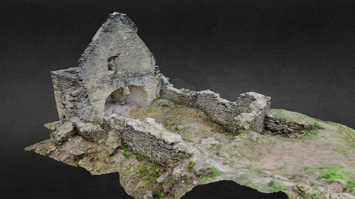 Garbova de Sus medieval church 3D Model