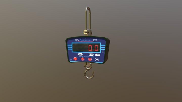 Сrane scales. 3D Model