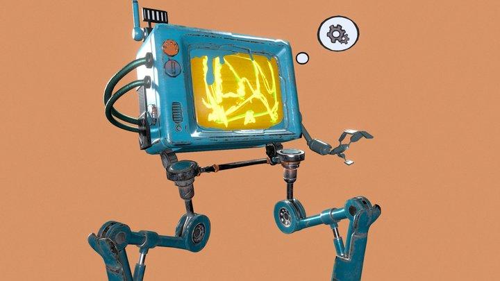 Amusing Robot - Smart Ass 3D Model
