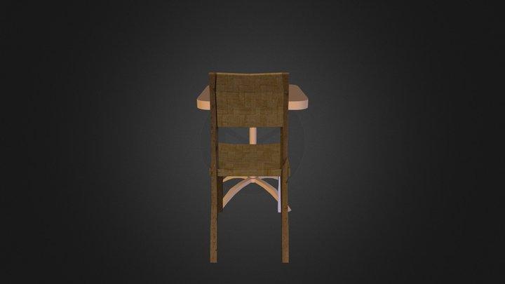 Table + Chair - City Scene 3D Model