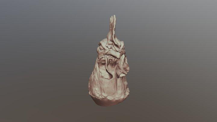 COQ plâtre Einscan Pro 2x Plus SCAN MAIN LIBRE 3D Model