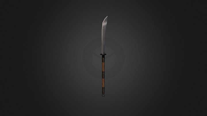 Torchlight II Naginata 3D Model