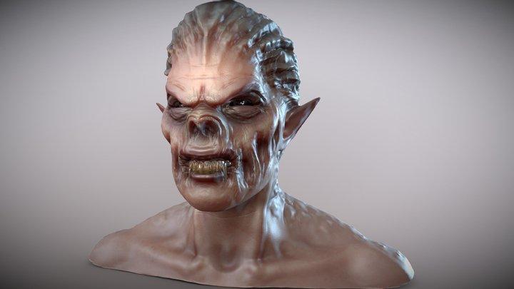Vampire Bust 3D Model