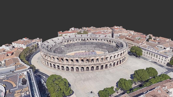 Les Arènes de Nîmes 3D Model